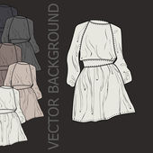 Vector background with dresses. — Stock Vector