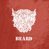 Man's beard .Vector part of face — Vector de stock