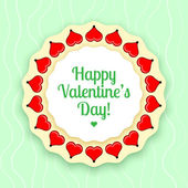 Vector greeting card for Valentine's day. — Stock Vector