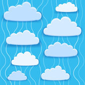 Clouds collection. — Stock Vector