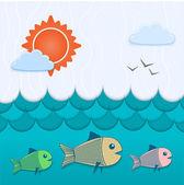 Vector underwater background. — Stock Vector