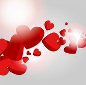 Vector fondo con corazones. — Vector de stock