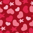 Valentine's day background with hearts. — Stok Vektör