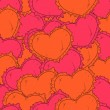 Valentine's day background with hearts. — Grafika wektorowa
