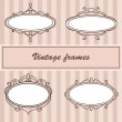 Vector set of vintage frames. — Stock Vector