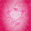 Vector de stock : Vector background with abstract heart.