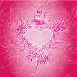 διάνυσμα φόντο με αφηρημένες καρδιά — Διανυσματικό Αρχείο