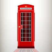 English red telephone booth. — Stock Vector