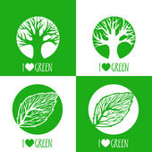 Vector ecology signs. — Stock Vector