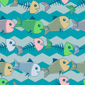 Vector background with fishes. — Stock Vector