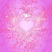 Vector background with abstract heart. — Stock Vector