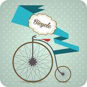 Vecchia bicicletta d'epoca. — Vettoriale Stock