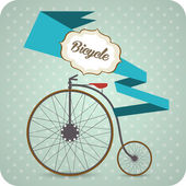 Old vintage bicycle. — Stock Vector