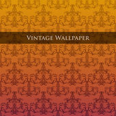 Vector vintage wallpaper. — Stock Vector