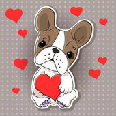 χαριτωμένο σκυλί στην αγάπη. — Διανυσματικό Αρχείο
