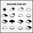 Stok Vektör: Weather icons.