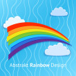 Vector background with rainbow. — Stock Vector #18831087