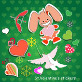 Vector background for Valentine's day. — Stock Vector