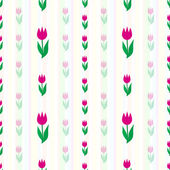Vector background with tulips — Stock Vector