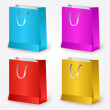 Vector colorful shopping bags. — Stock Vector