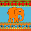 Vector background with elephant. — Stock Vector