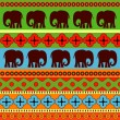 Vector background with elephants. — Stock Vector #18895035
