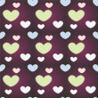 Vector background with hearts. — Stock Vector #18895555