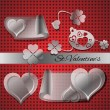 Elements for Valentine's day. - Stock Vector