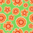 Vector background with orange flowers. — Stock Vector