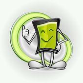 Smart phone character in vector — Stock Vector