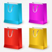 Vector colorful shopping bags. — Stock Vector