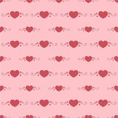 Vector background with hearts. — Stock Vector