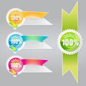 Vector conjunto de rótulos de qualidade. — Vetorial Stock