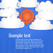 Clouds and sun in the sky. — Stock Vector