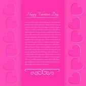 Pink valentine background — Stock Vector