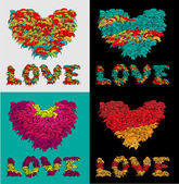 Vector backgrounds with hearts. — Stock Vector