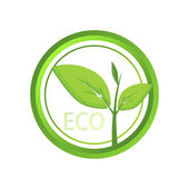Vector eco icon. — Stock Vector