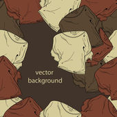 Fondo de vector con blusas. — Vector de stock
