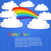 Vector background with rainbow. — Stock Vector