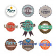 Vector set of vintage labels. - Stock Vector
