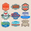 Vector set of vintage labels. — Stock Vector
