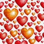 バレンタインデーの背景 — ストックベクタ