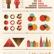 Big Vector collection of Infographic elements — Stock Vector