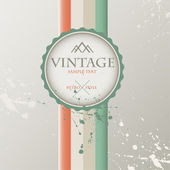 Vintage background with label. — Stock Vector