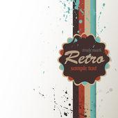 Retro achtergrond met label. — Stockvector