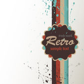 Retro background with label. — Vector de stock