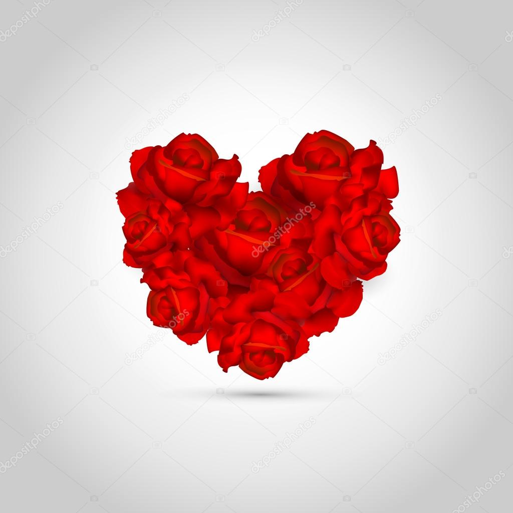 Heart of roses. Vector illustration. — Stock Vector #19070485