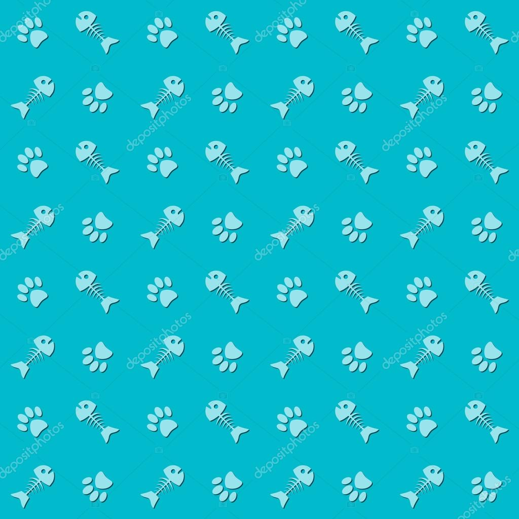 Twitter Background Cats Background With Cat Paw Print