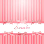 Vector pink background with bows — Stock vektor