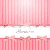 вектор розовый фон с бантами — Cтоковый вектор